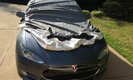 Tesla Model S car cover by EVannex
