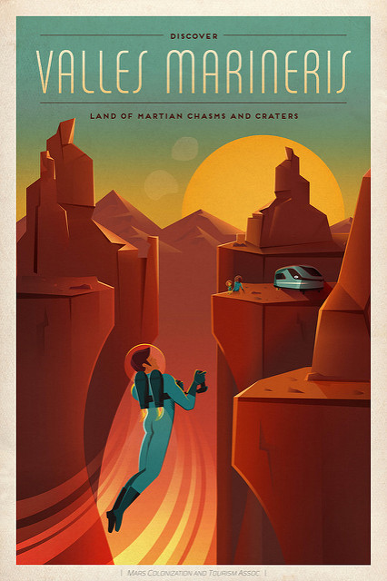Mars travel poster.
