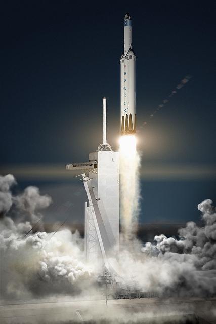 Falcon Heavy takes flight!
