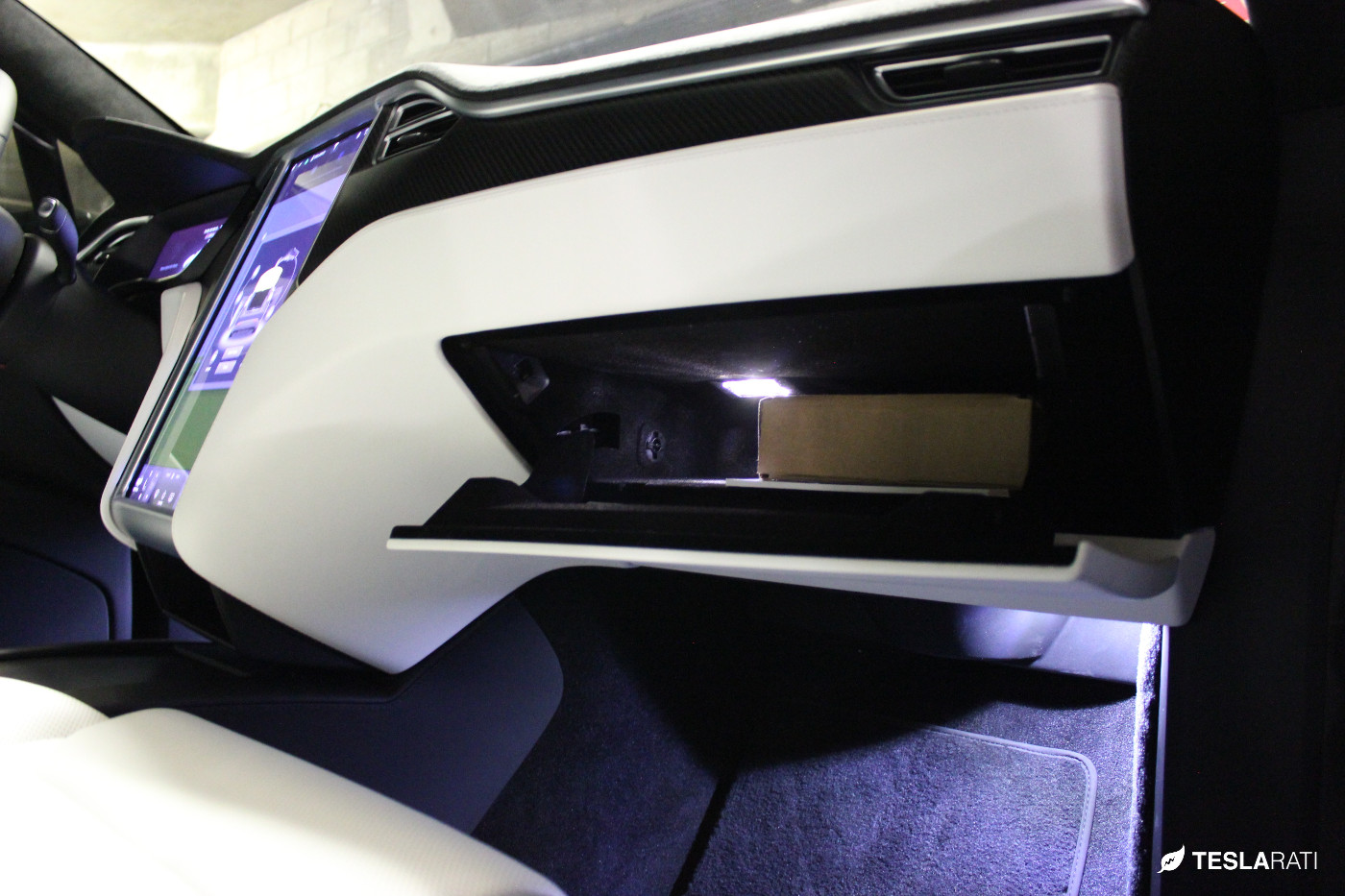 Abstract-Ocean-Tesla-Model-X-Ultra-Bright-LED-Glovebox