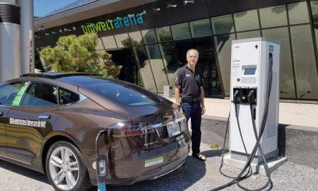 Alan Soule with his Tesla Model S
