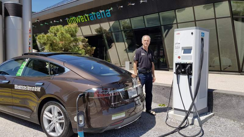 Alan Soule with his Tesla Model S