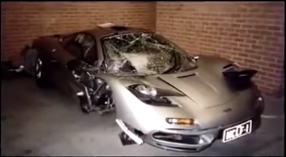 mclaren f1 after crash - teslarati