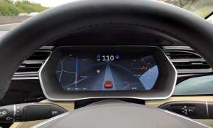 Tesla in autonomous mode