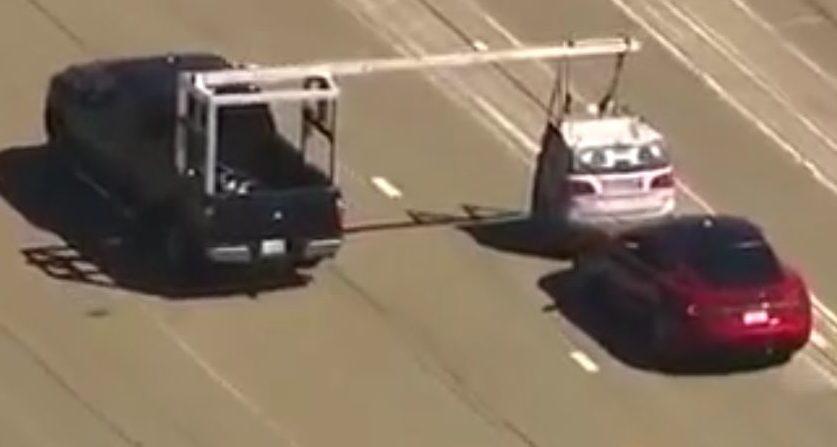 Tesla spied testing automatic braking system