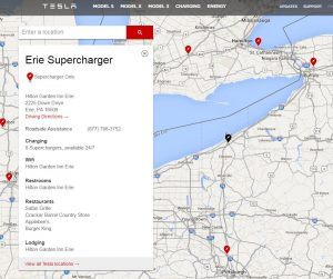 Tesla Erie, PA Supercharger