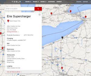Tesla Erie, PA Supercharger