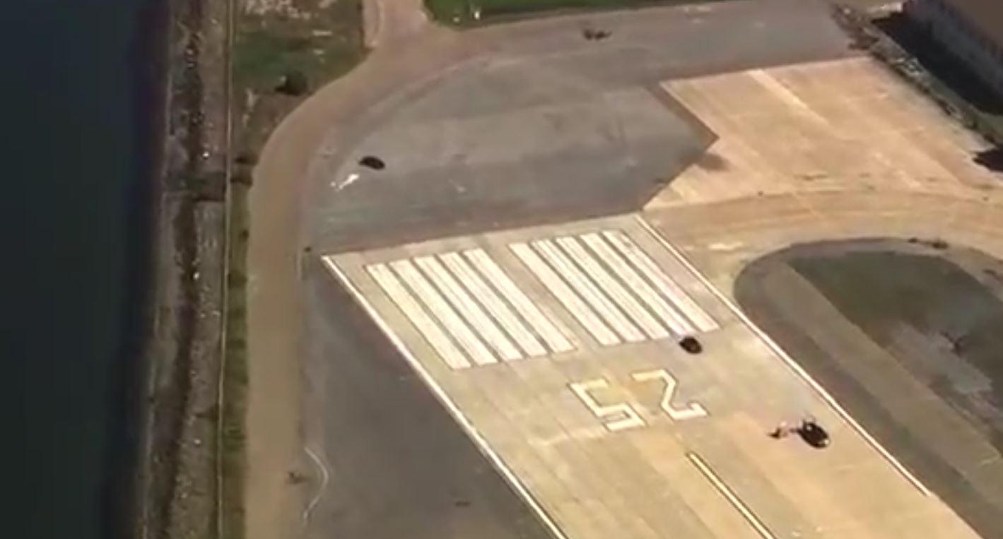 wide shot runway