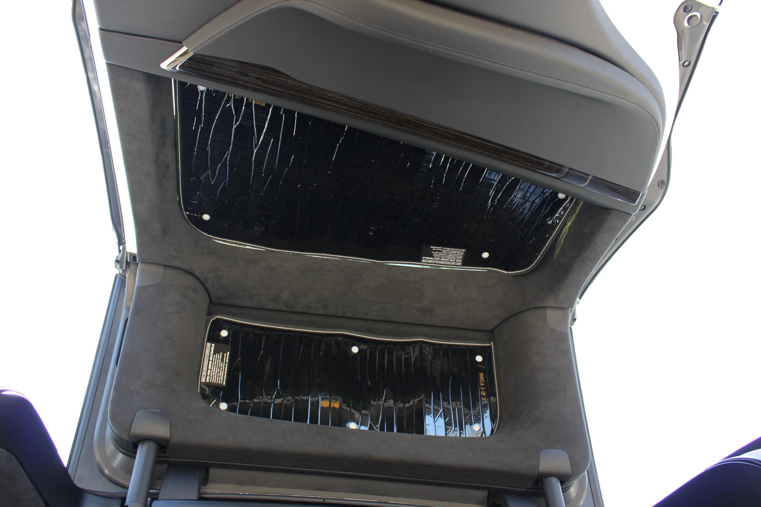Model X falcon wing doors with HeatShield sunshade