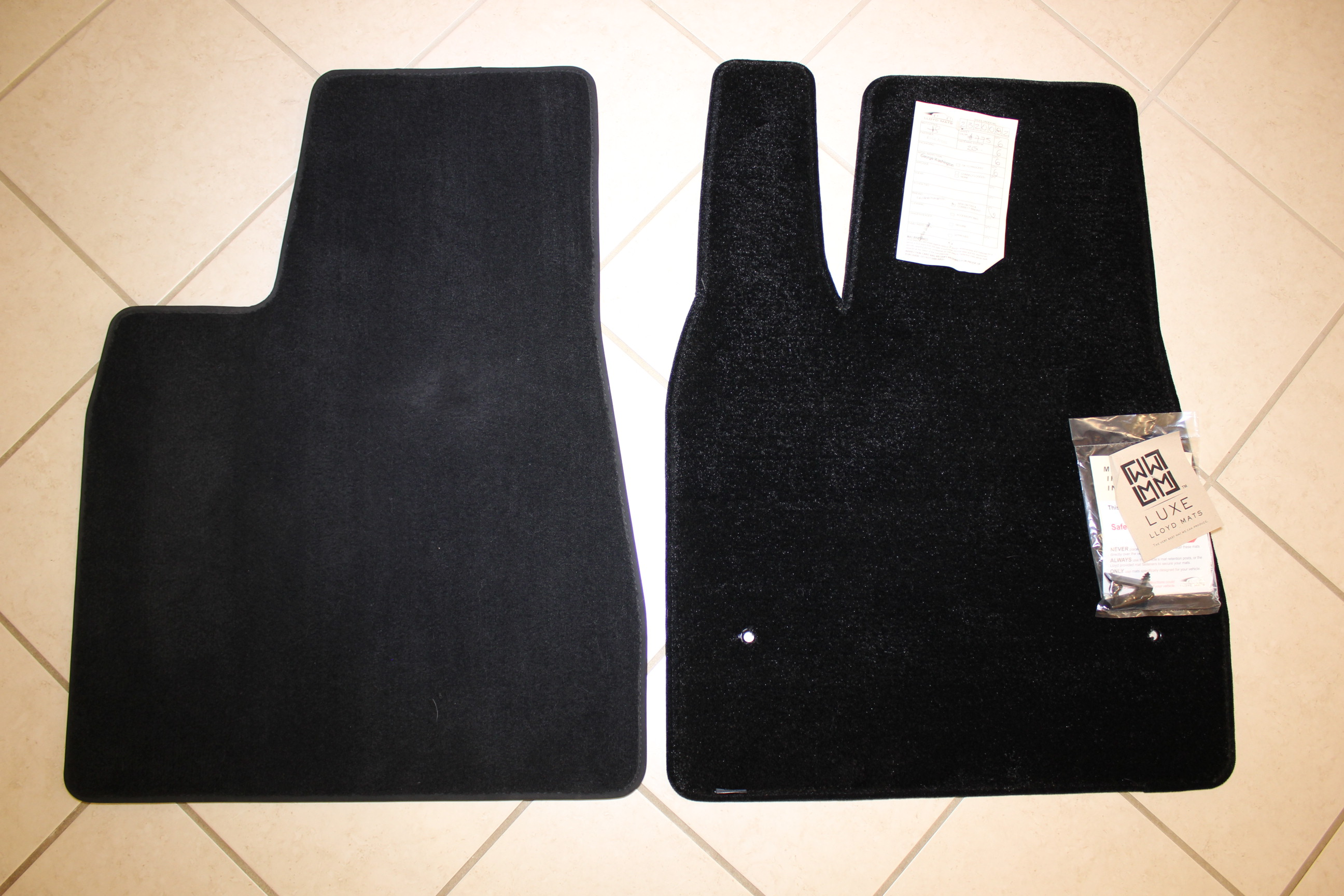 Left to Right – OEM Mats vs LUXE Mats Driverside Comparison
