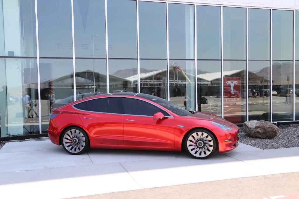 Model 3 outside Gigafactory