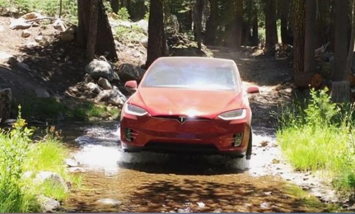 Red-Model-X-Off-Road-River-Rock