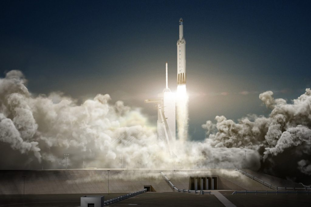 spacex 39 s massive falcon heavy rocket aims for december 29 inaugural launch. Black Bedroom Furniture Sets. Home Design Ideas