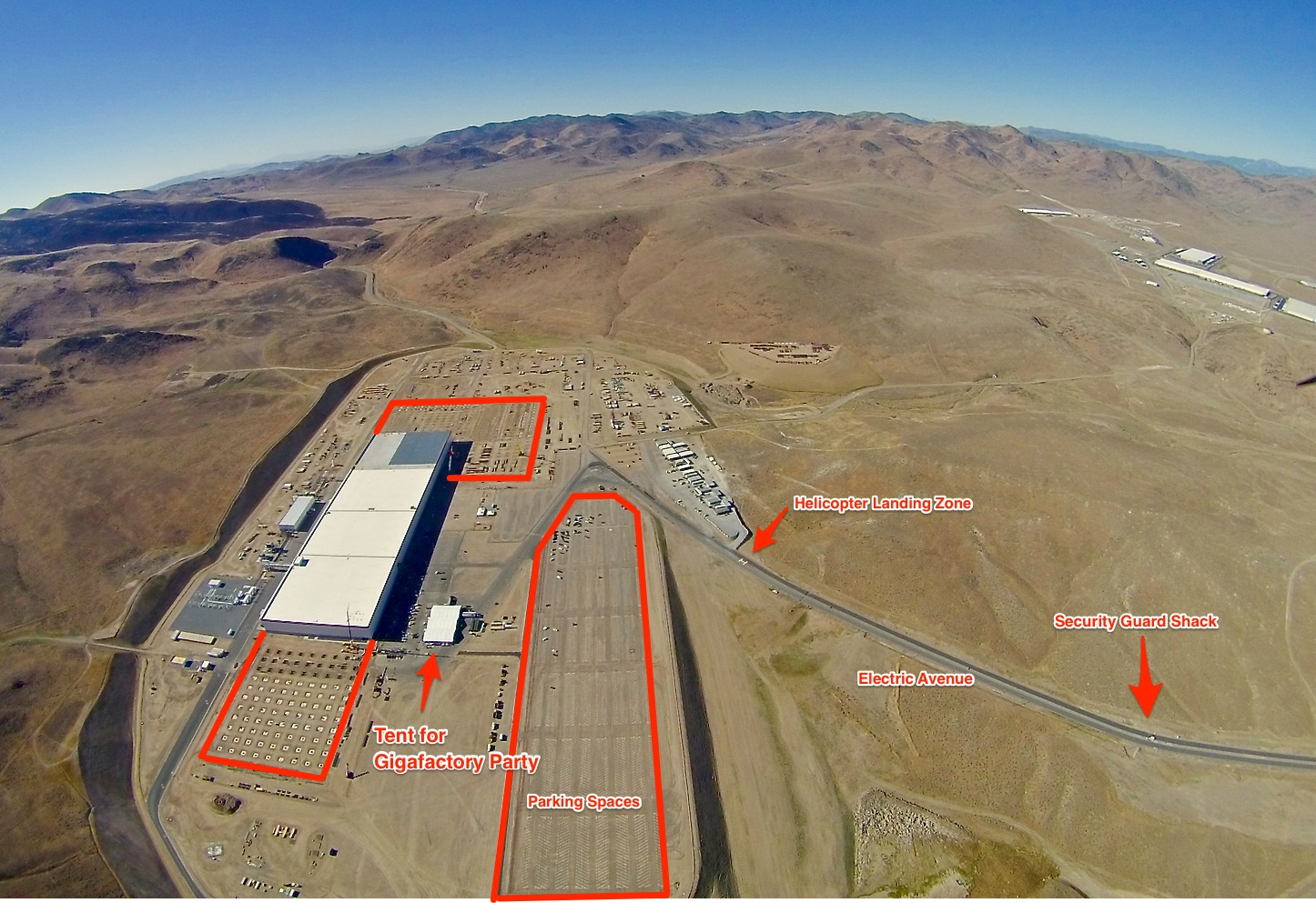 New Aerial Photos Of Tesla Gigafactory 1 Reveal Upcoming