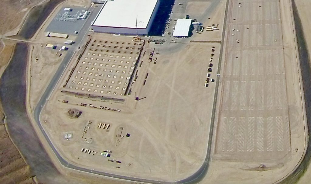 Tesla Gigafactory test track