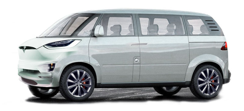Tesla Minibus by Jason Torchinsky