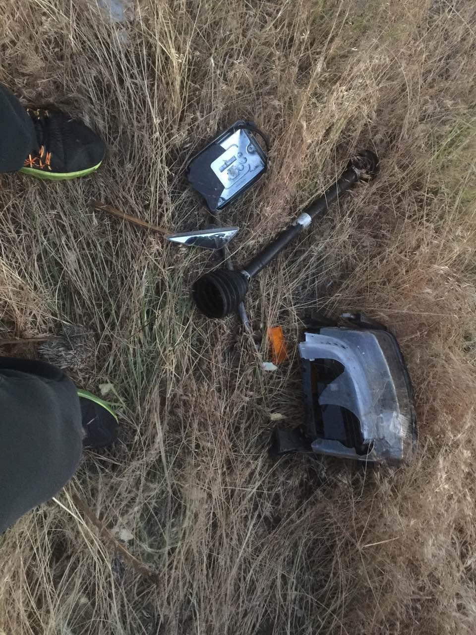 Tesla-Model-X-crash-Montana-debris