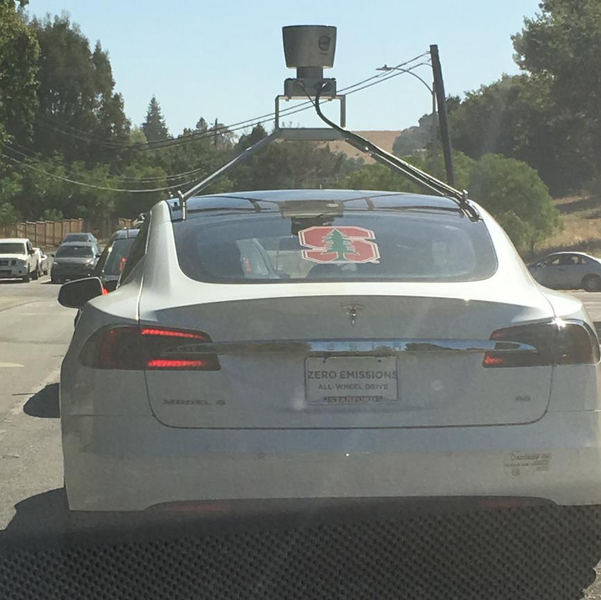 Tesla with LIDAR