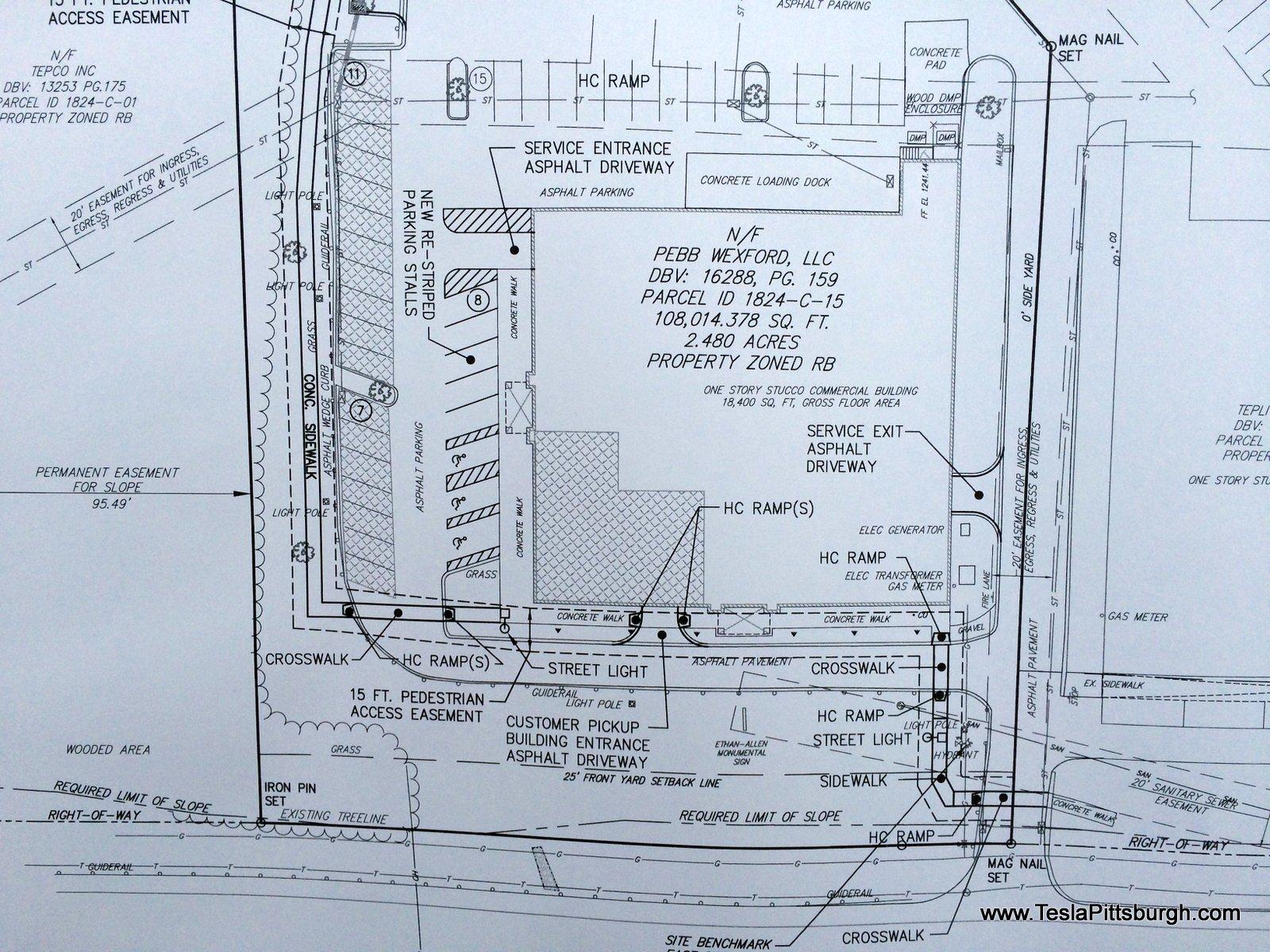 pittsburgh tesla service building plan