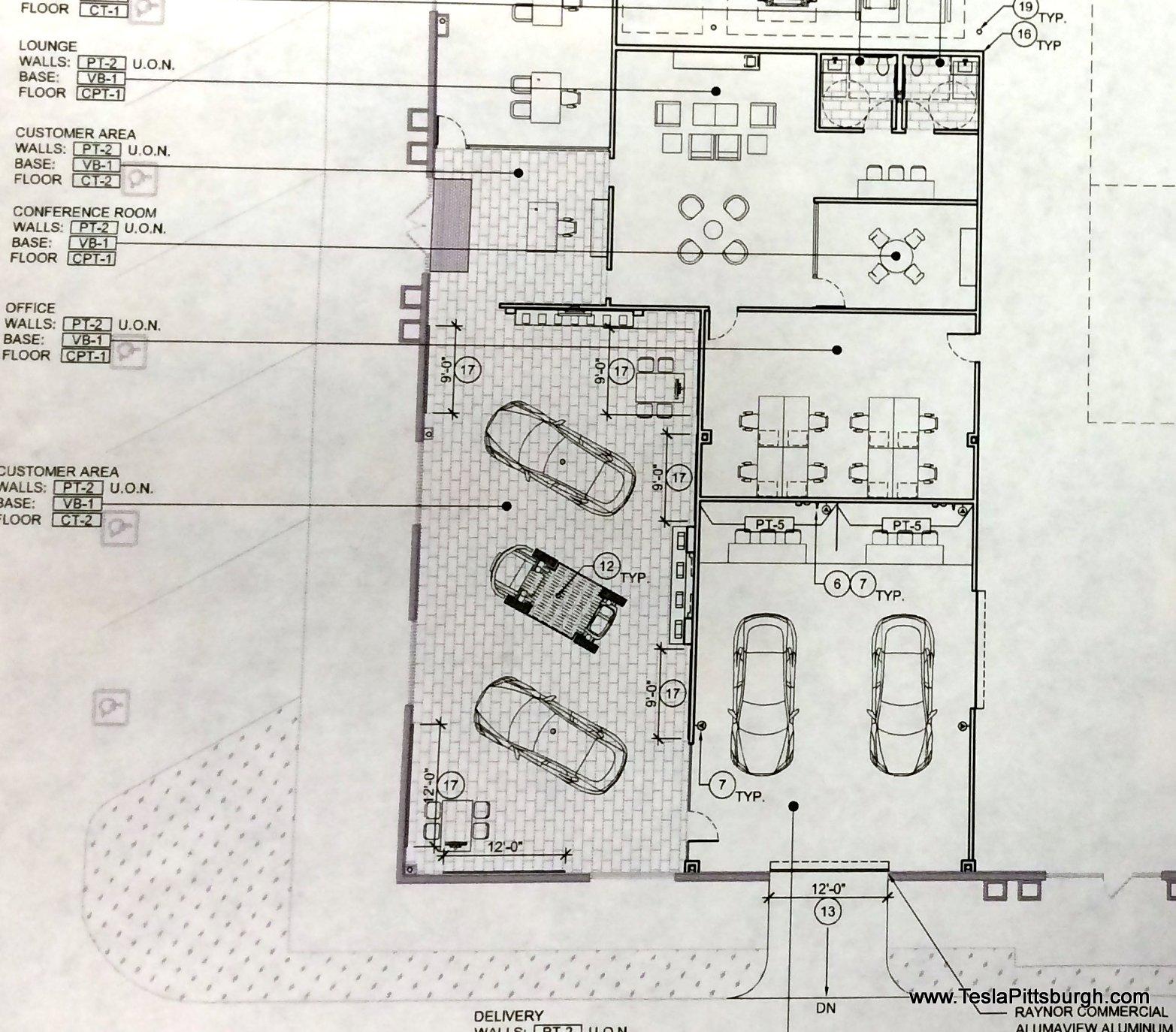 pittsburgh tesla service sales area