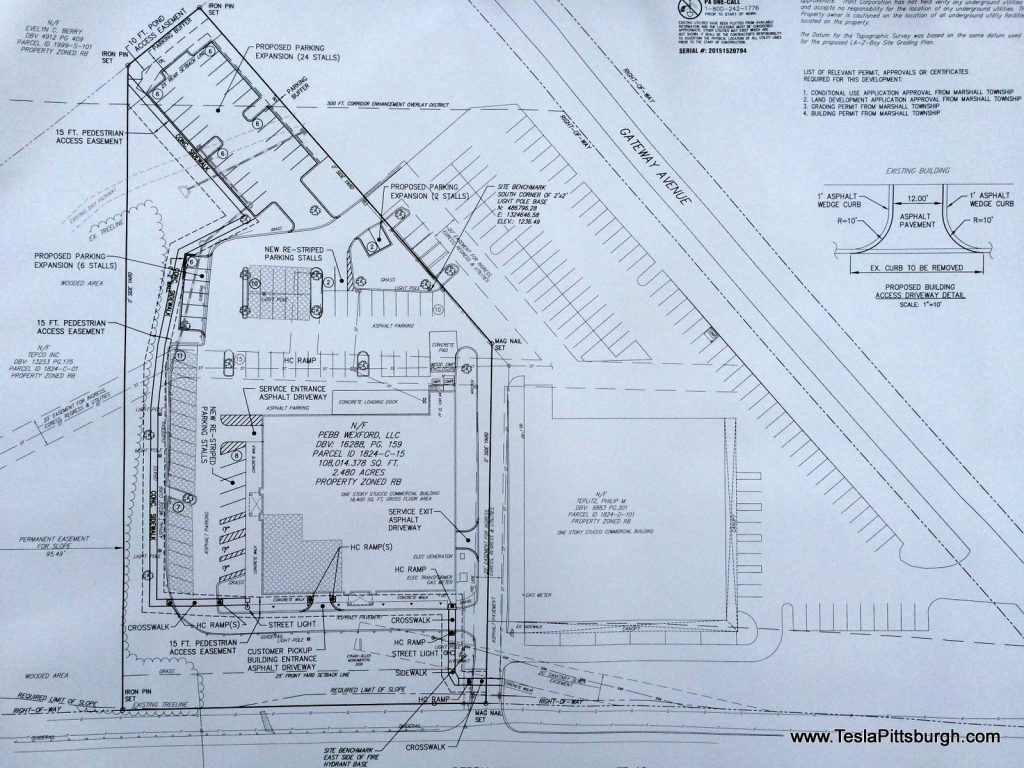 pittsburgh tesla store plan site