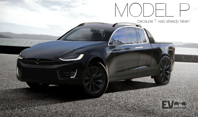 Tesla Model P rendition