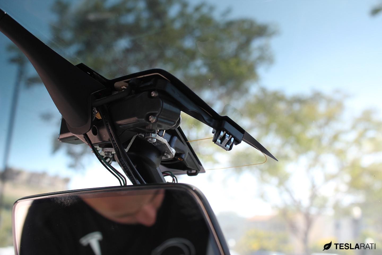 Tesla Model X front mirror housing clips