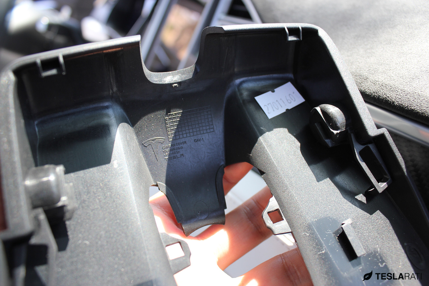 Tesla Model X front mirror housing