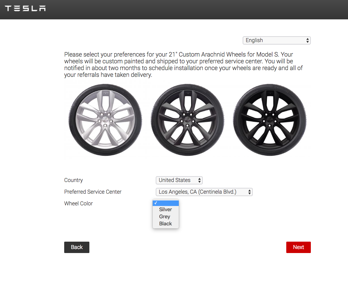 Tesla Model S Custom >> Tesla invites Referral Program winners to select prizes