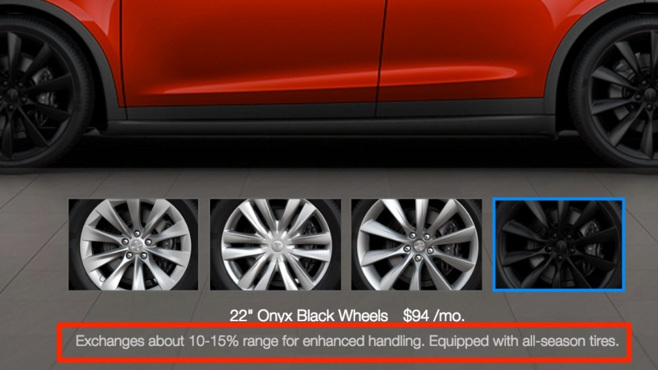 Tesla Model X 20 Vs 22 Wheel Range Impact Bigger Isn T Better