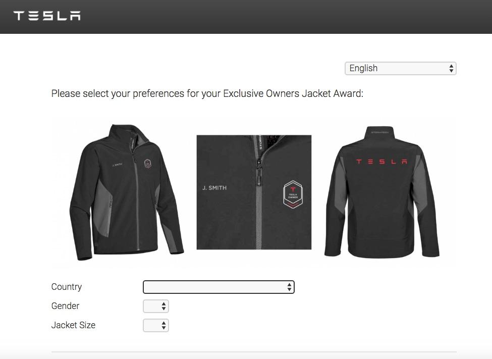 Tesla Owners Jacket