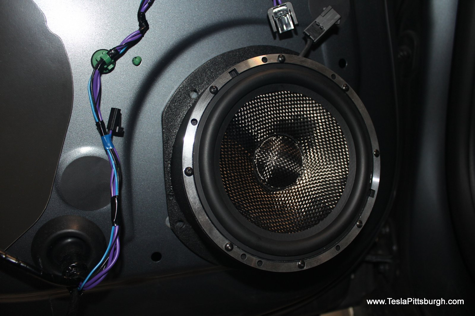 Tesla Model S Standard Audio Speaker Upgrade By Light Harmonic