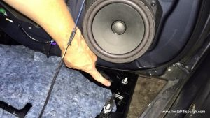 pointing out alignment post on rear door panel that can ruin speakers tesla pittsburgh