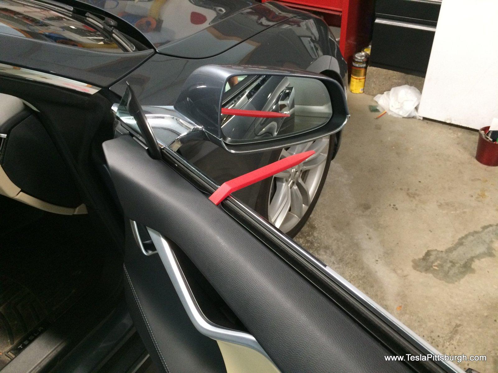 Prying Off The Front Door Panels To Install Speakers Tesla