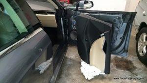 rotated front door panel to install speakers tesla pittsburgh