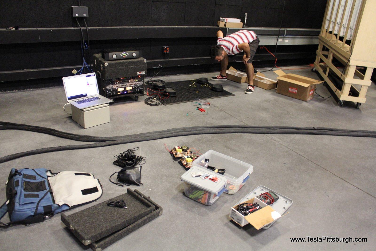 studio test 2 of light harmonic labs speaker stock factory tesla pittsburgh
