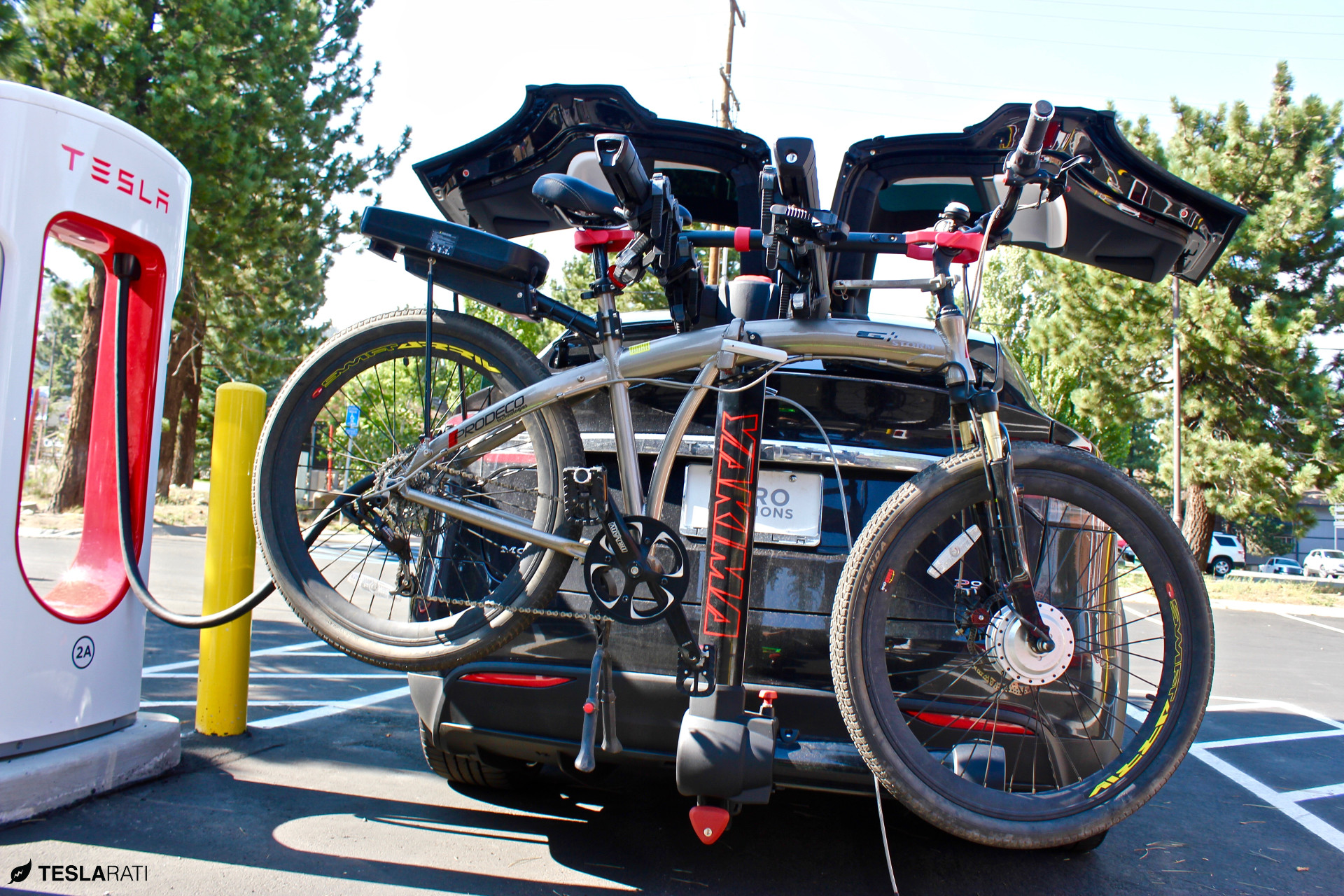 tesla supercharging model a hitch rack once you fullswing installing prodeco x can go bike