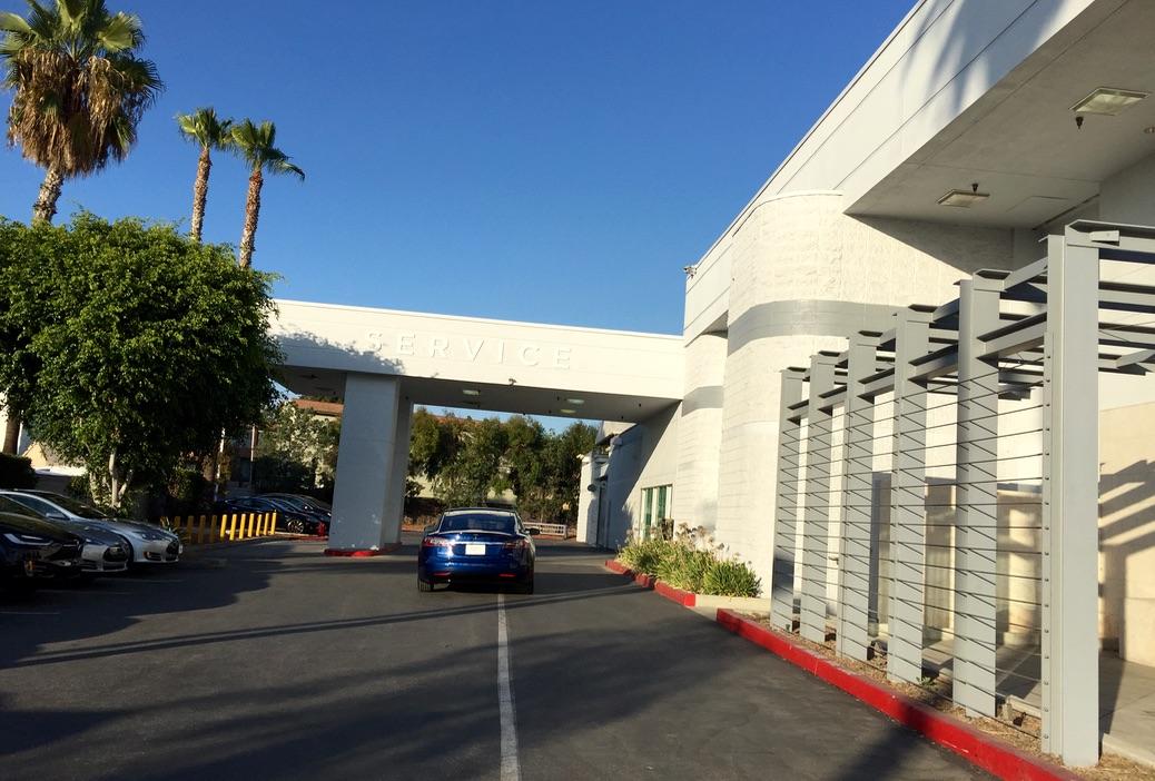 Tesla Service entrance Buena Park
