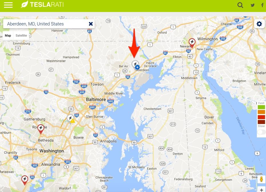 Tesla-Supercharger-Aberdeen-Maryland