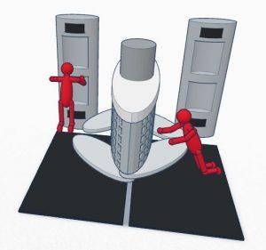 Interplanetary Transport System - food station.