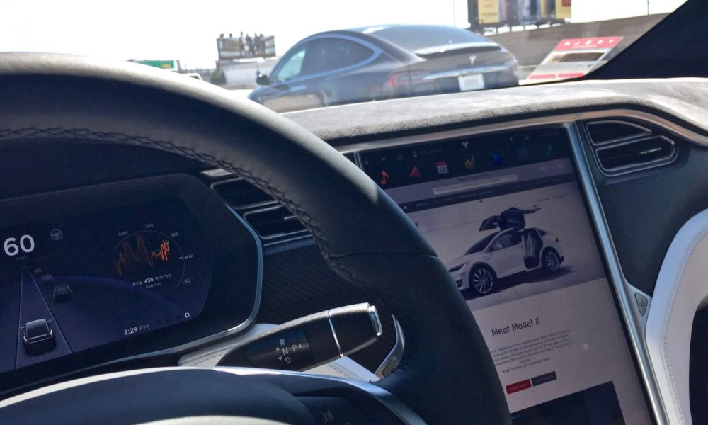 technology tesla releases video fully autonomous model electric