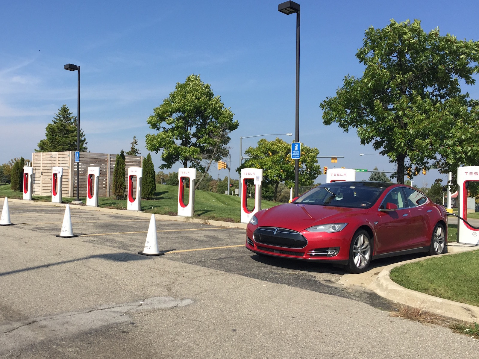 red-tesla-michigan-supercharger