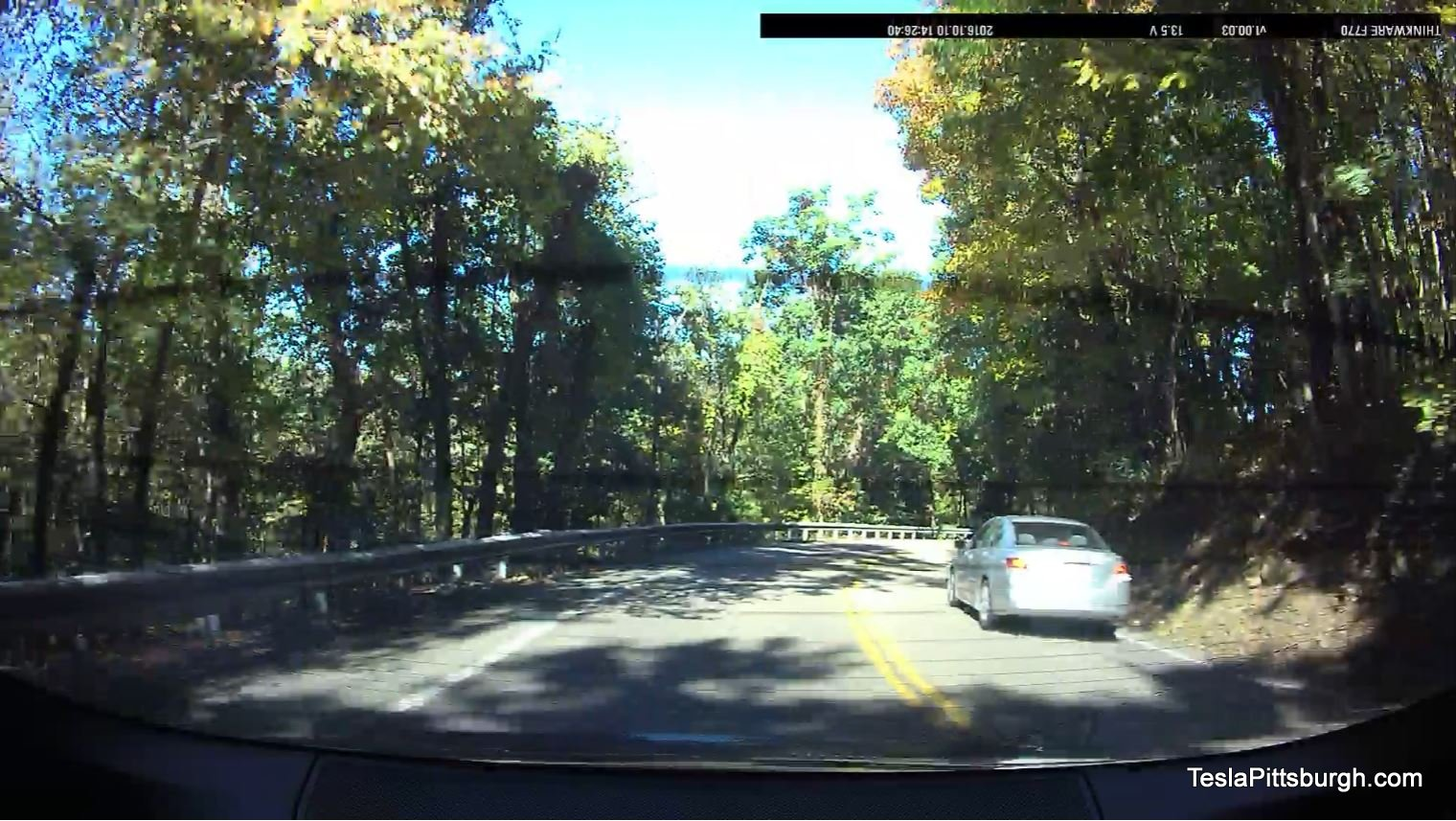 tesla-pittsburgh-dashcam-review-thinkware-f770-camera-daylight-cemetery-lane-rear