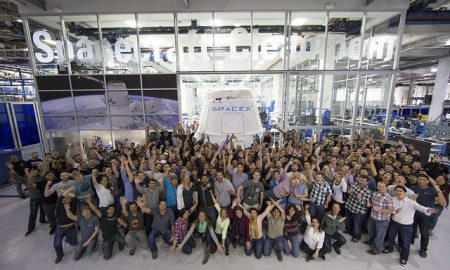 Happy SpaceX workers. | Credit: SpaceX