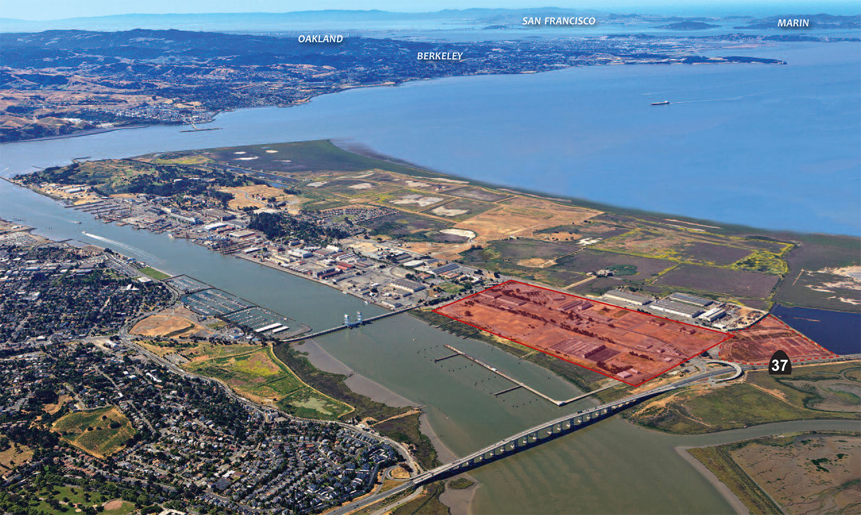 Proposed land for Faraday Future at North Mare Island