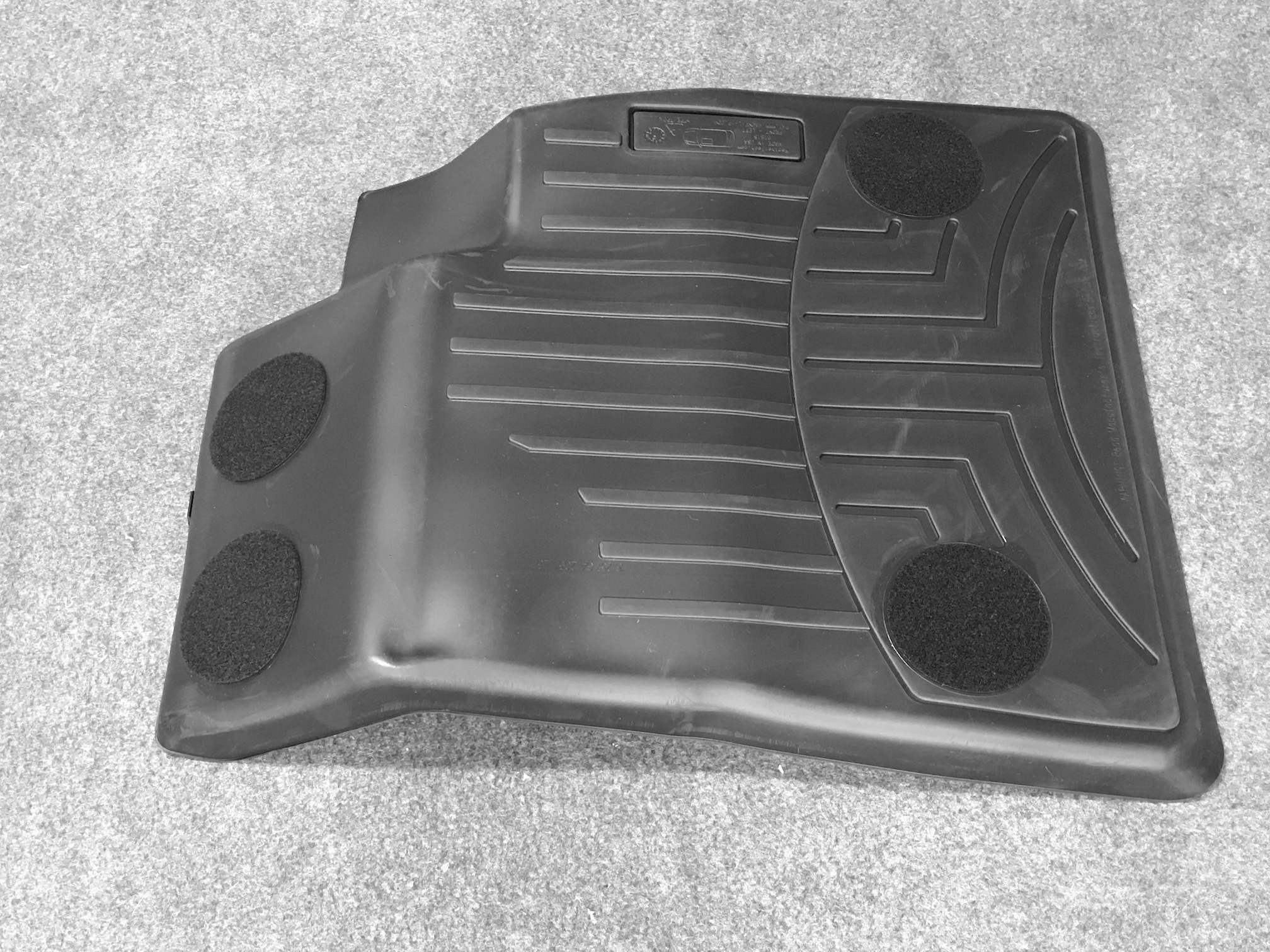 Driver side floor liner mat (Backside)
