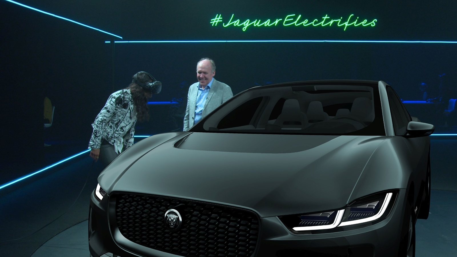 Jaguar F Pace Exterior >> Inside the Jaguar I-Pace electric crossover VR press event