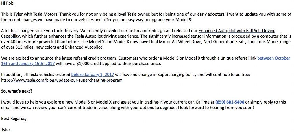 Model S Upgrade Solicit