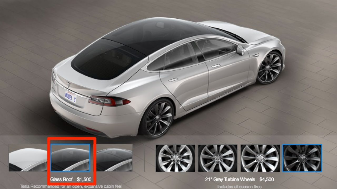 Tesla Model S Receives Model 3 Like Glass Roof Option
