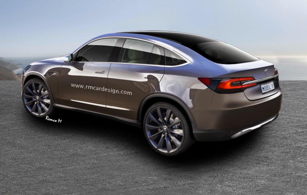 Tesla Model Y Compact SUV rendering
